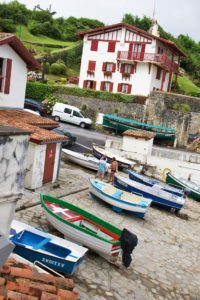 Fishing village Guethary in France