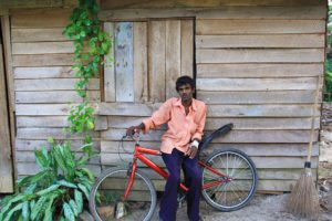 local guy with bike ahangama portret sri lanka