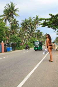street life ahangama surfing camp poe sri lanka