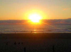 sunset biarritz beach france