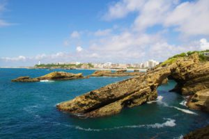 view beaches ocean biarritz france