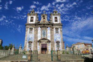 church tiles porto city portugal