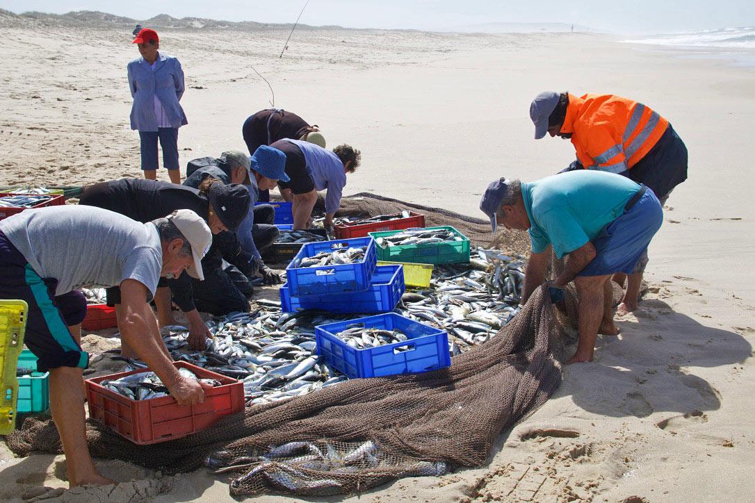 fishermen beach praia da tocha portugal