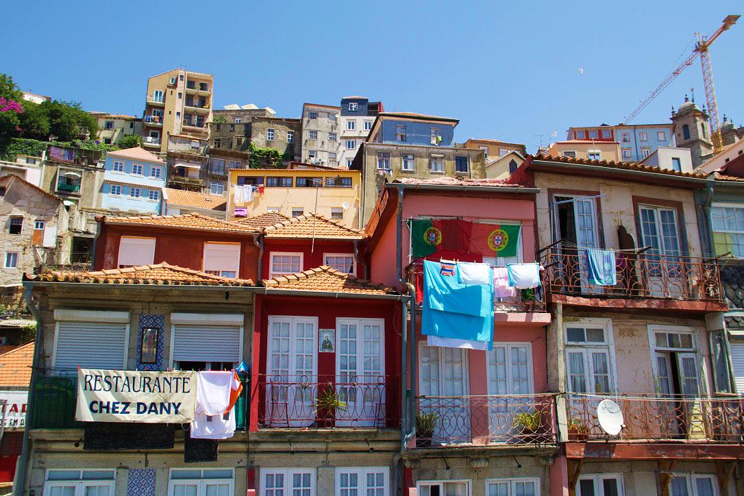 houses porto streets city portugal