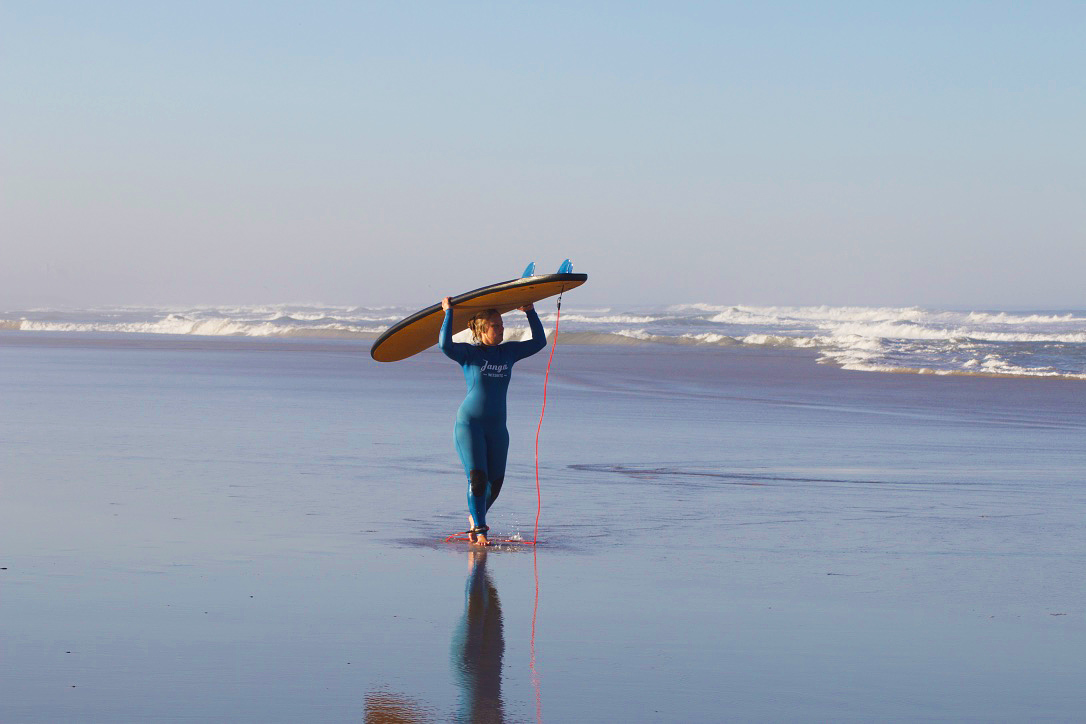 janga wetsuits surfing lesson no riding no life praia do cabedelo portugal