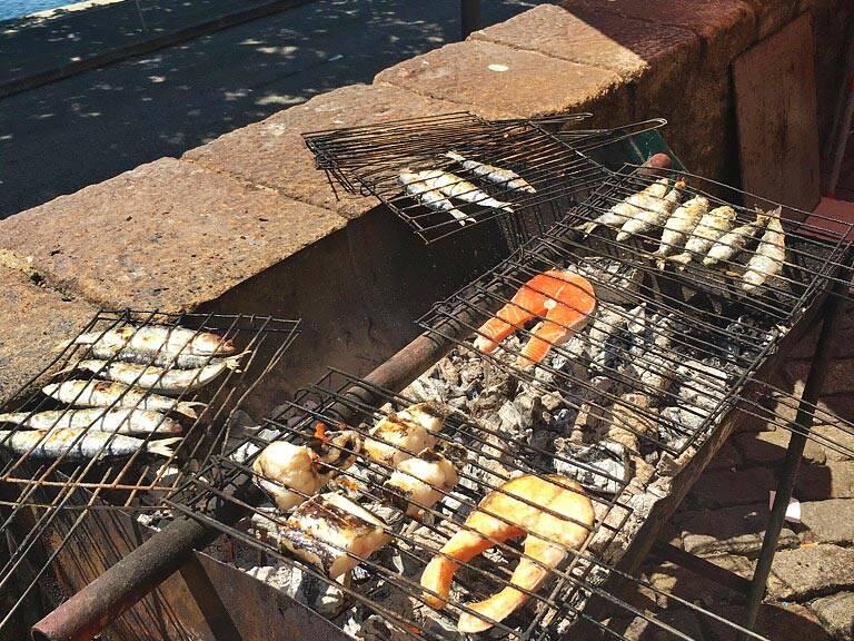 matosinhos beach seafood grill restaurants porto portugal
