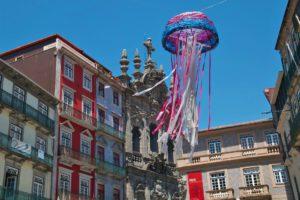 porto city ribeira streets houses portugal