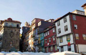 Porto city center in Portugal