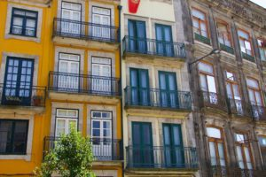 Houses in Ribeira neighbourhood in Porto Portugal