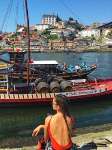 porto ribeira river view douro port boats gaia portugal