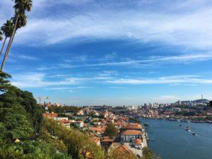 porto view douro river jardins palacio cristal portugal