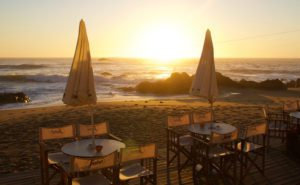praia da luz restaurant sunset porto portugal