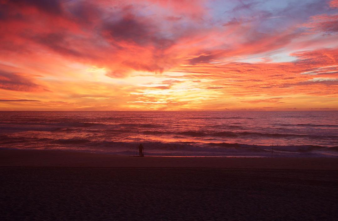 Sunset at Praia da Tocha Portugal