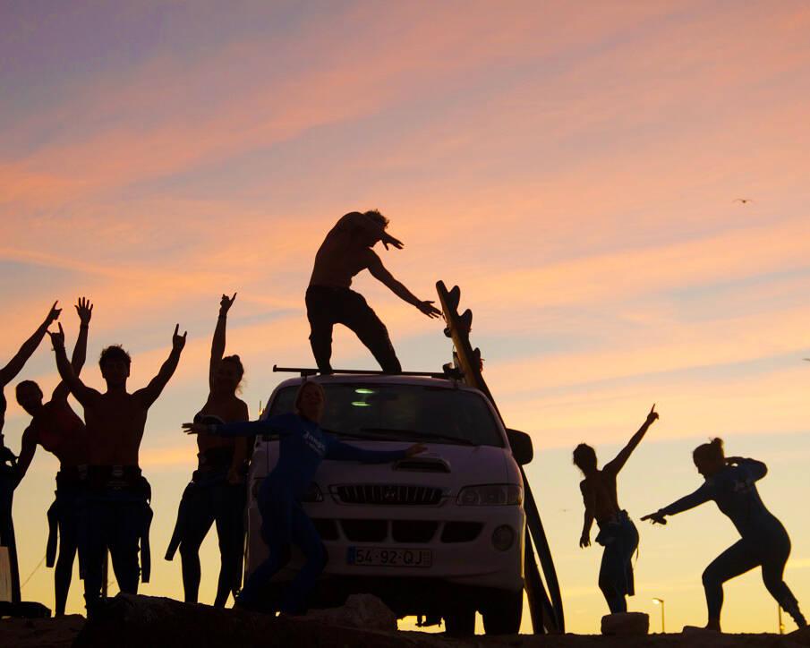 sunrise surf lessons sky no riding no life praia cabedelo portugal