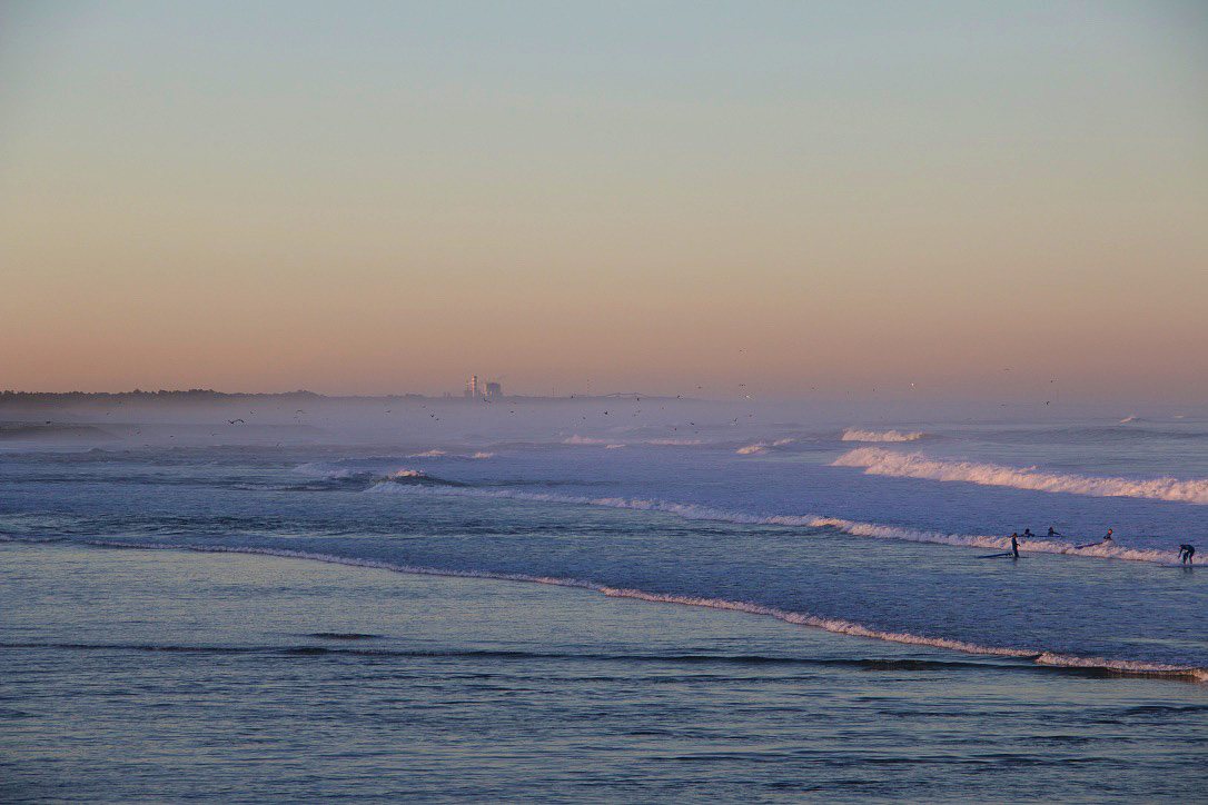 sunrise surfing lesson praia do cabedelo portugal