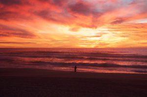 sunset sky beach praia da tocha portugal