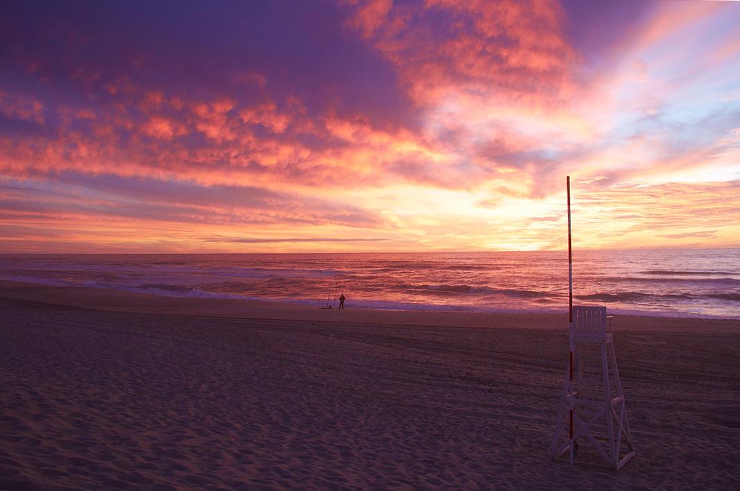 sunset view sky beach praia da tocha portugal