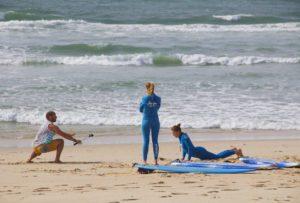 surfing lesson janga no riding no life praia da tocha portugal