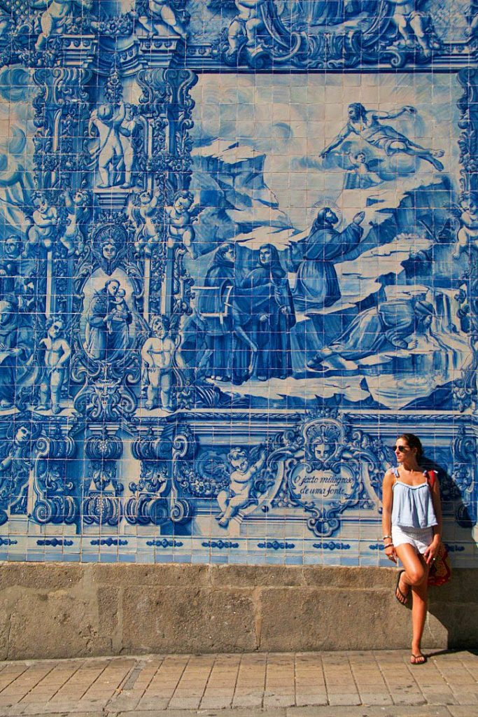 tiles church walls porto city portugal
