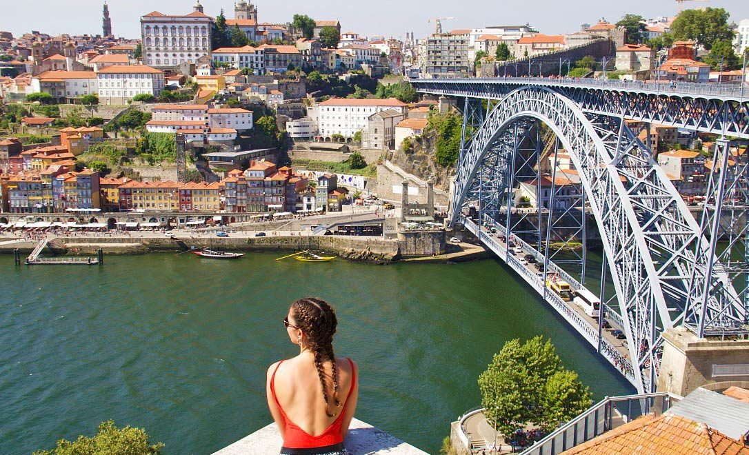 view porto city douro river portugal