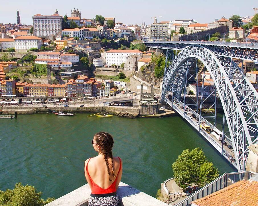 view porto city douro river portugal