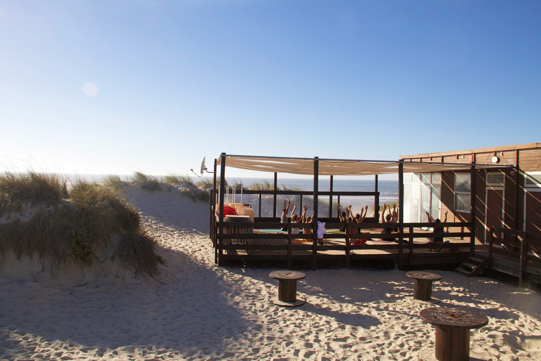 yoga session beach no riding no life praia da tocha portugal
