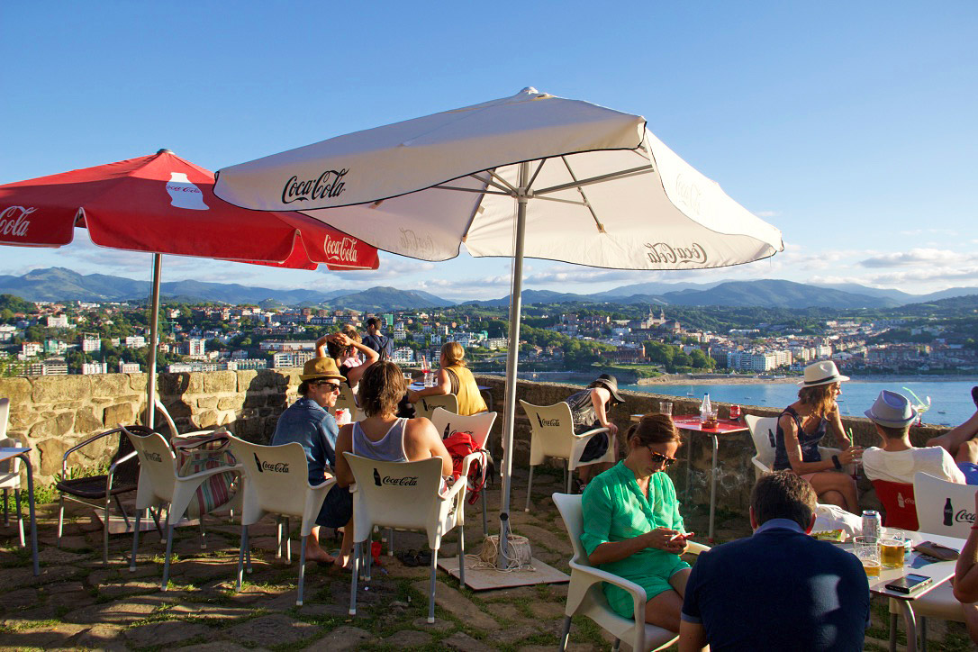 best bar san sebastian monte urgull view spain