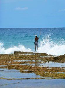 fisherman on the beach of Ponta do Ouro beach Mozambique