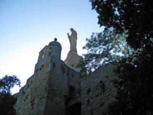 Monte Urgull statue in San Sebastian Spain