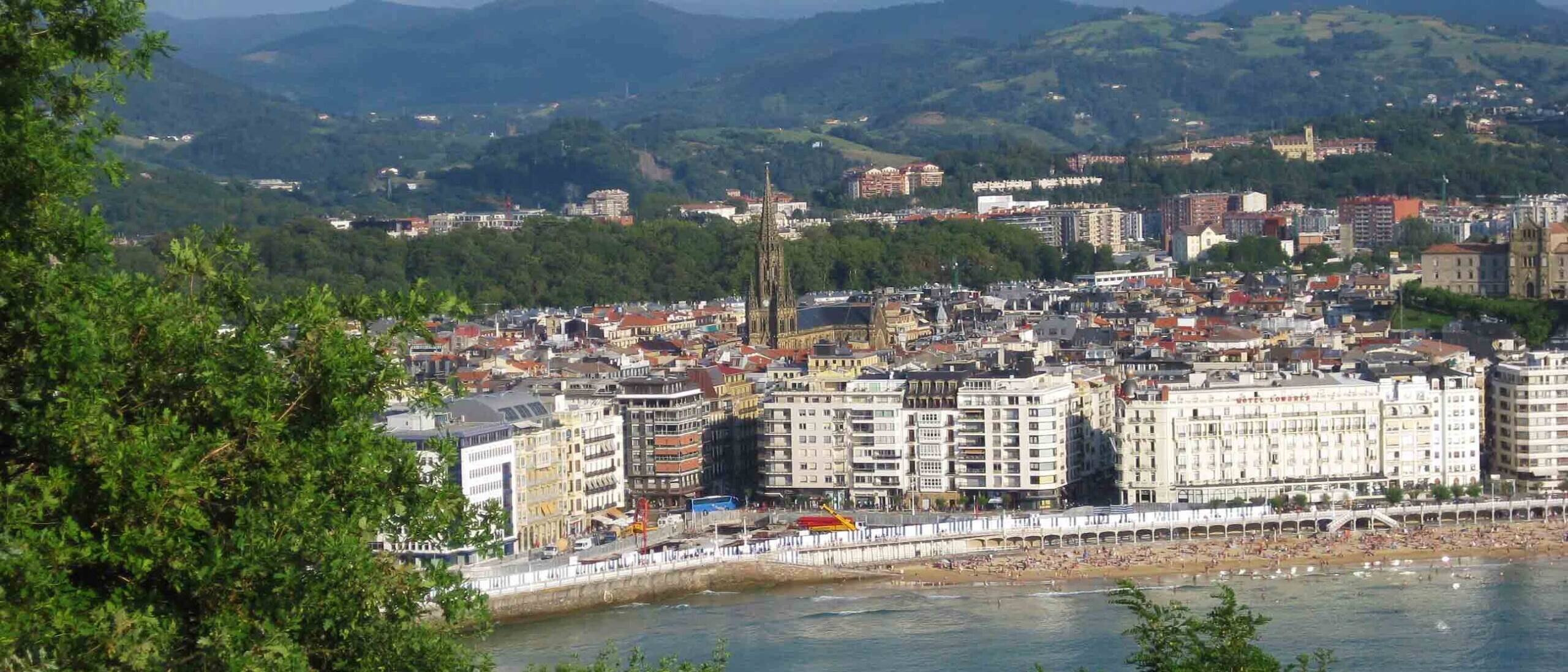 san sebastian city view beach ocean spain