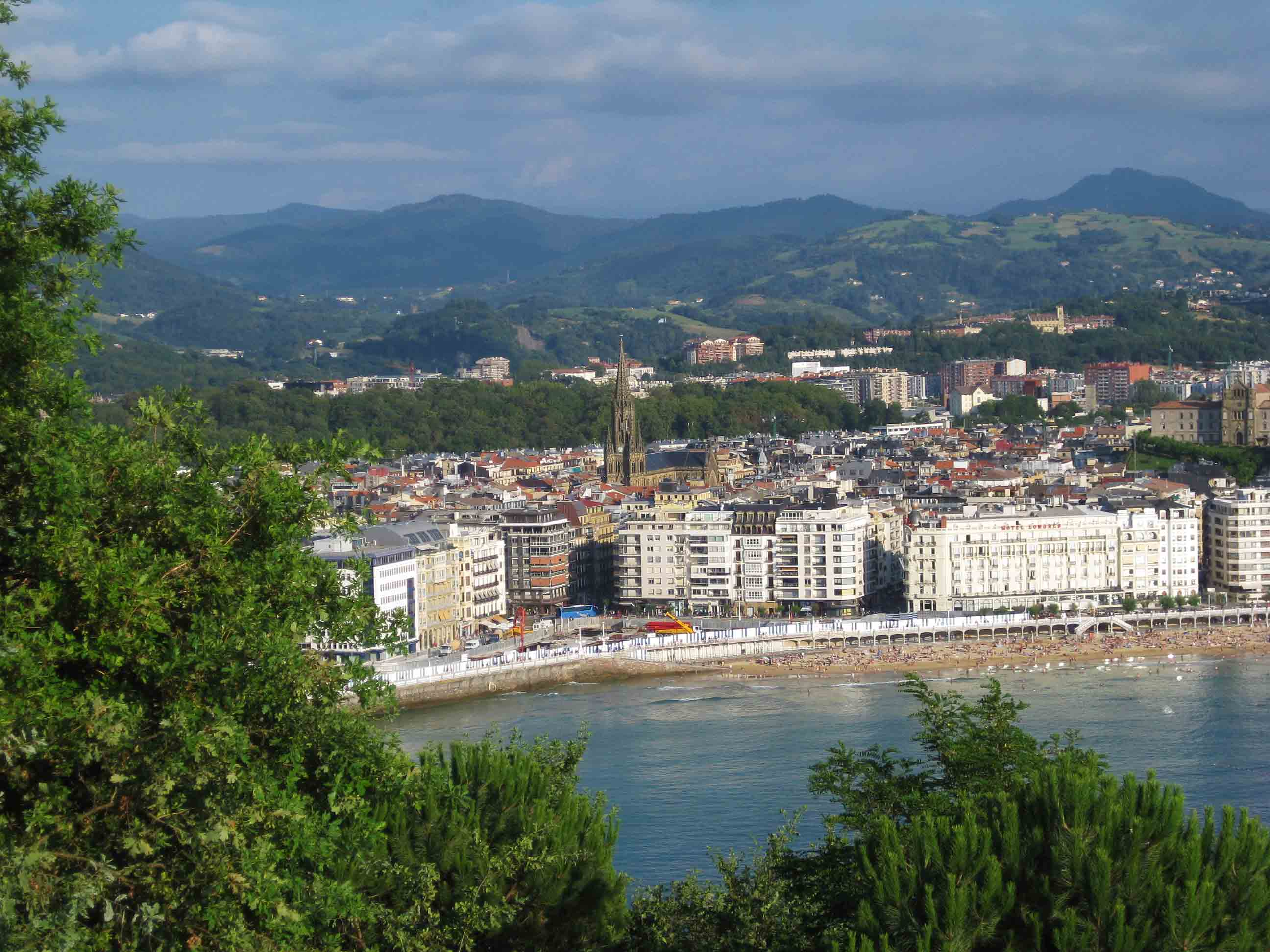 san sebastian city view beach ocean spain