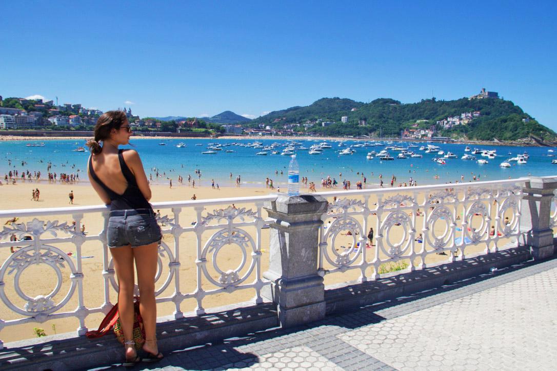 donostia san sebastian playa concha beach spain