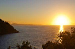 san sebastian monte urgull sunset view spain