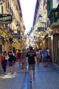 Old historic center of San Sebastian Spain