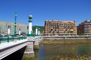 san sebastian river gros city spain
