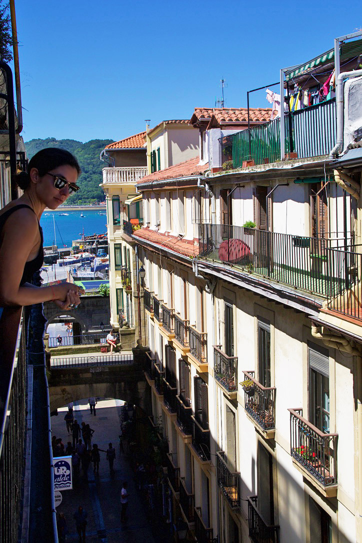 Streets in the old town of San Sebastian