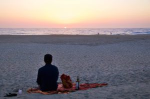 sunset beach costa nova picnic portugal sundowners