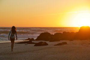 sunset surf beach ocean costa nova portugal