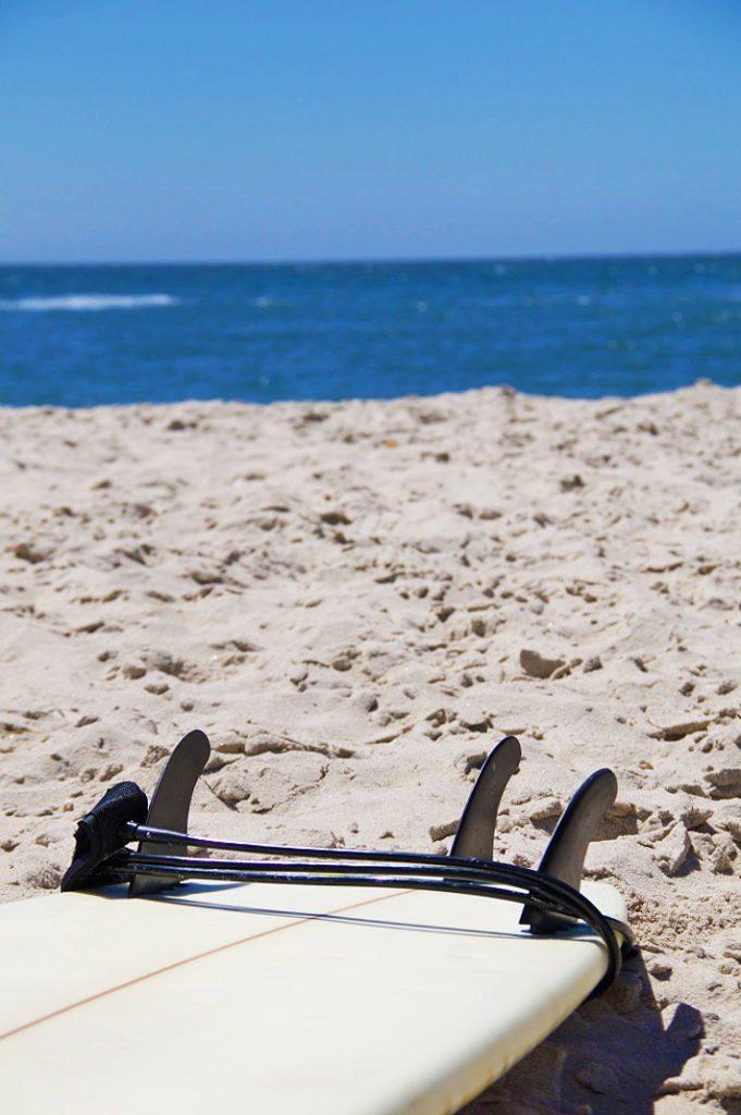 surfboard ocean costa nova beach portugal