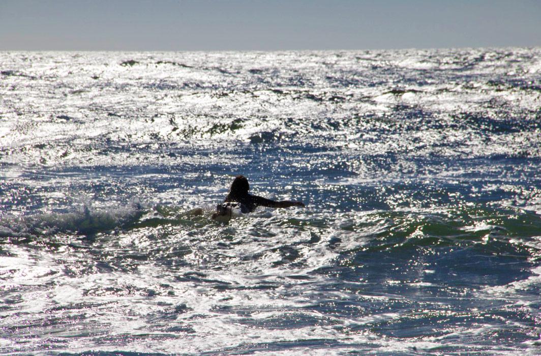 surfing paddling ocean costa nova portugal