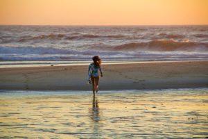 surfing sunset beach costa nova ocean portugal