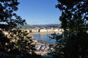 view city walk monte urgull san sebastian spain