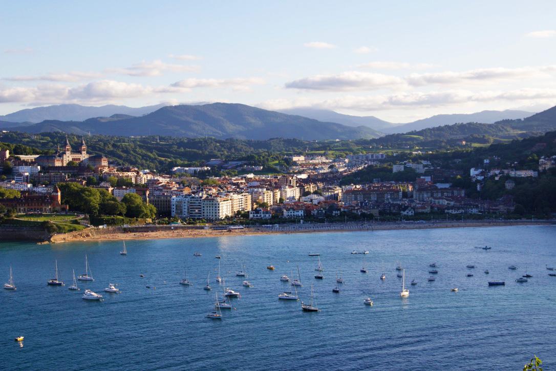 view san sebastian beach basque country spain