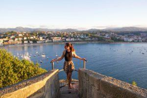 View over San Sebastian from Monte Urgull