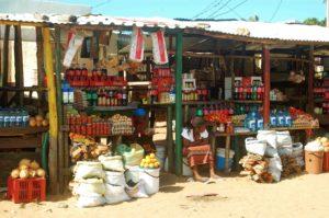 ponta do ouro market stands mozambique
