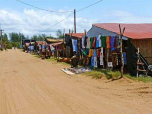 streets ponta do ouro market mozambique