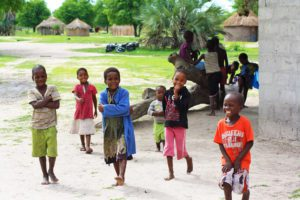 children okavango delta village botswana