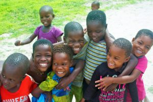 children village okavango delta botswana