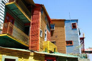 Colourful houses in La Boca Buenos Aires