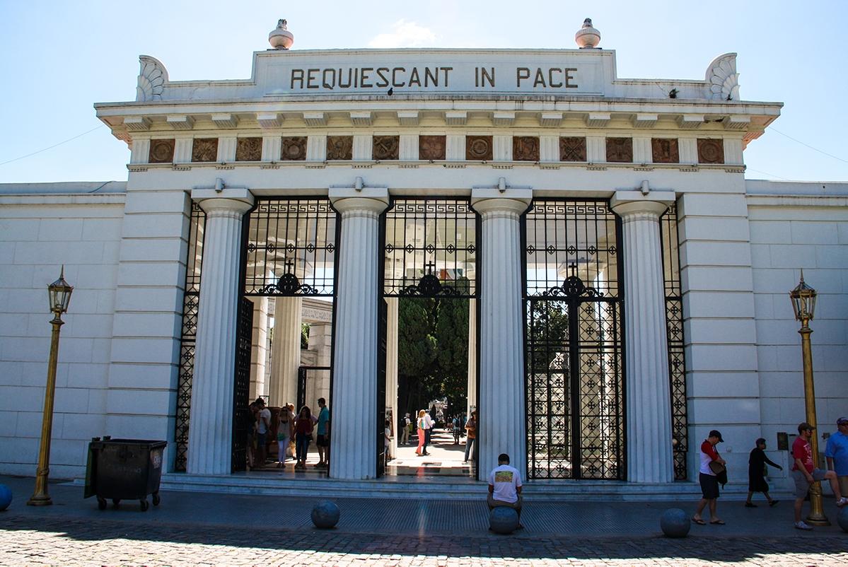Cemetario de la Recoleta in Buenos Aires Argentina